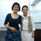 from left Kathy Ong AIFD, Principal of Lee Flower Design Academy and IFD President